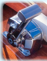 Chromium plated throttle control with a soft cushion for the hand