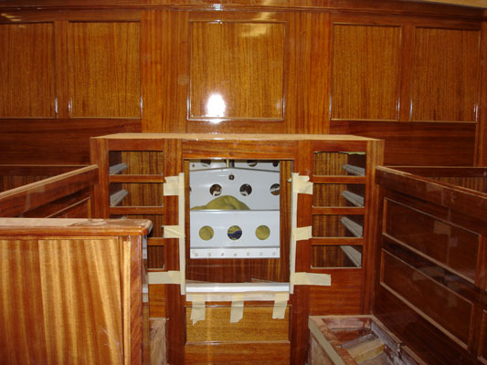 Interior finishing in the stern